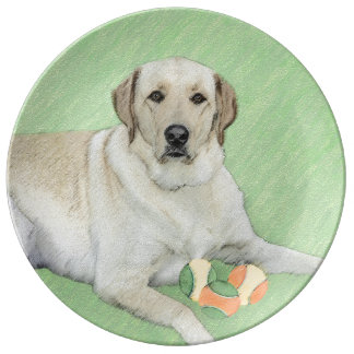 Labrador Retriever (Yellow) Porcelain Plate