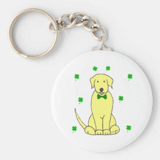 Labrador Retriever Yellow Saint Patricks Day Keychain