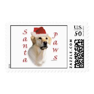 Labrador Retriever (yellow) Santa Paws Postage