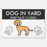 Labrador Retriever Yellow Signs