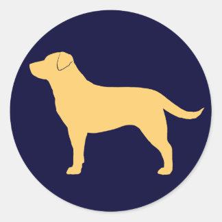 Labrador Retriever (Yellow) Classic Round Sticker