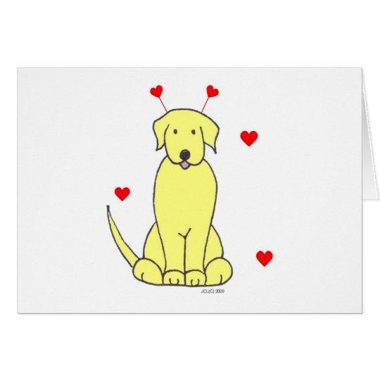 Labrador Retriever Yellow Valentine Ears Card