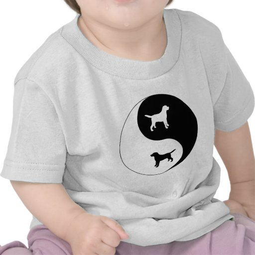 Labrador retriever Yin Yang Camiseta
