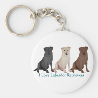 Labrador Retrievers - 3 Colors to Love Basic Round Button Keychain