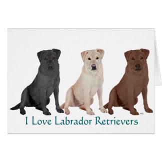 Labrador Retrievers - 3 Colors to Love Card