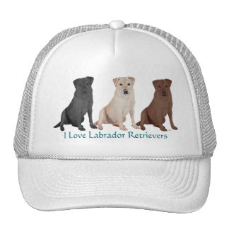 Labrador Retrievers - 3 Colors to Love Trucker Hat