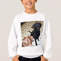 Labrador Retrievers, father and son Sweatshirt