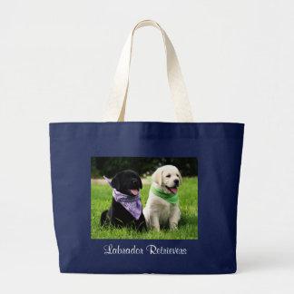 Labrador Retrievers Puppies Jumbo Canvas Tote Bag