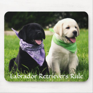 Labrador Retrievers Rule Puppies Mousepad