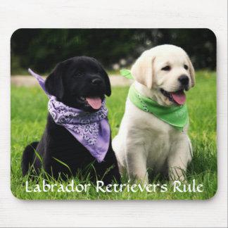 Labrador Retrievers Rule Puppies Mousepad