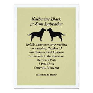"Labrador Retrievers Wedding Invitation 4.25"" X 5.5"" Invitation Card"