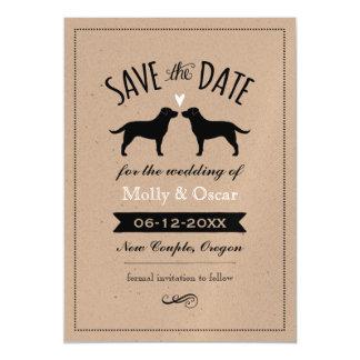 Labrador Retrievers Wedding Save the Date Magnetic Card