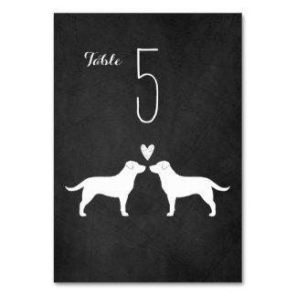 Labrador Retrievers Wedding Table Card