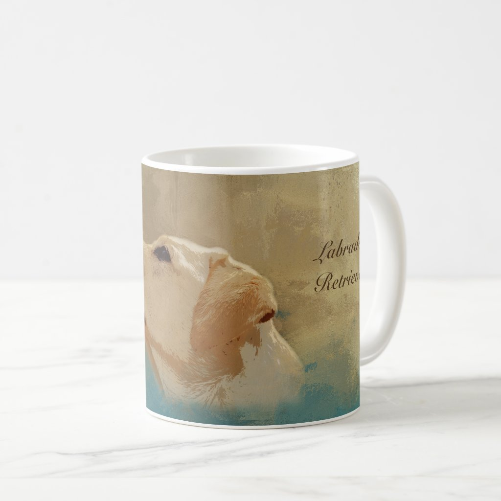 Labrador Retriever art design dog lover's coffee mug