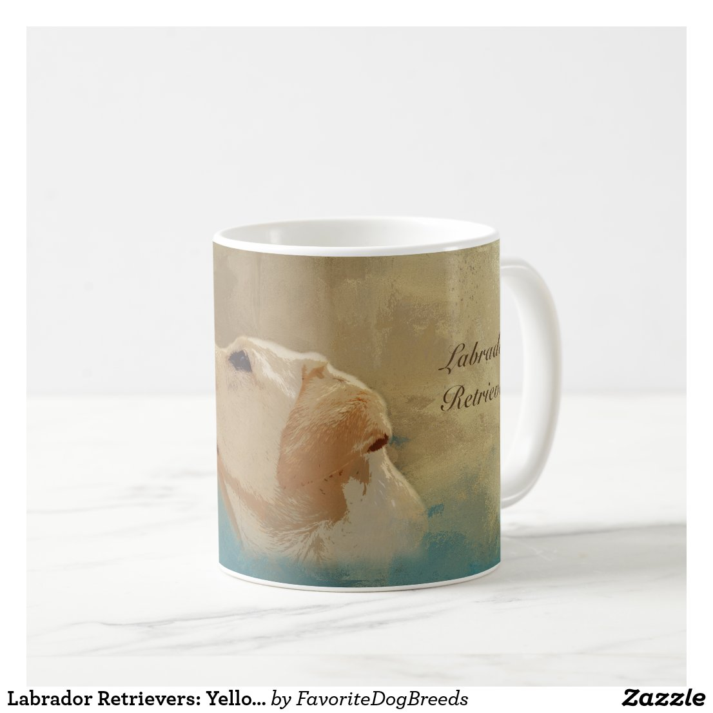 Labrador Retrievers: Yellow Lab Dog Lovers Pet Coffee Mug