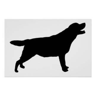 Labrador Retriver hunting dog Silhouette Poster