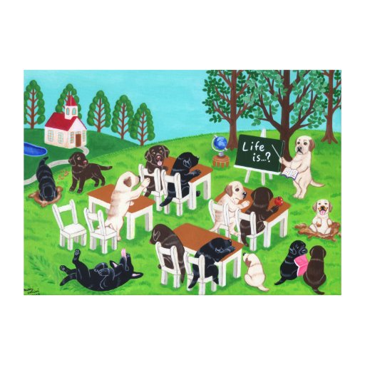 Labrador School Painting Canvas Print