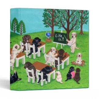 Labrador School Vinyl Binder