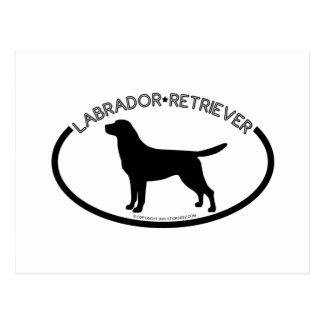 Labrador Silhouette Black Postcard
