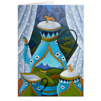 Labrador Tea Set Greeting Card
