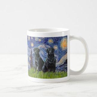 Labrador (two black) - Starry Night Coffee Mug