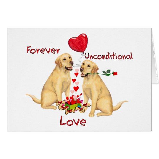 Labrador Valentine Card