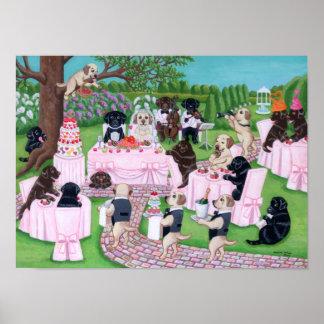 Labrador Wedding Art Print