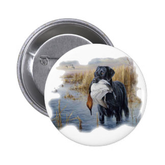 Labrador with Duck- Duck Hunting 2 Inch Round Button