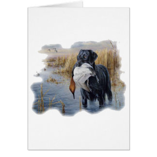 Labrador with Duck- Duck Hunting Card