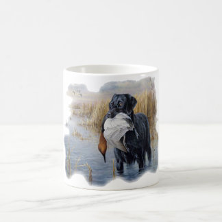 Labrador with Duck- Duck Hunting Classic White Coffee Mug
