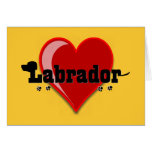 Labrador Word Art Dog Lover Gifts Greeting Card