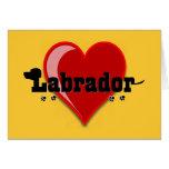 Labrador Word Art Dog Lover Gifts Greeting Card