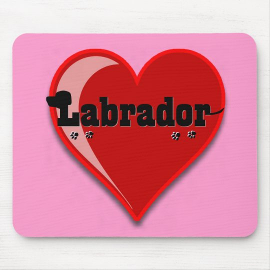 Labrador Word Art Dog Lover Gifts Mouse Pad