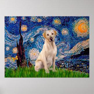 Labrador Y7 - noche estrellada Poster