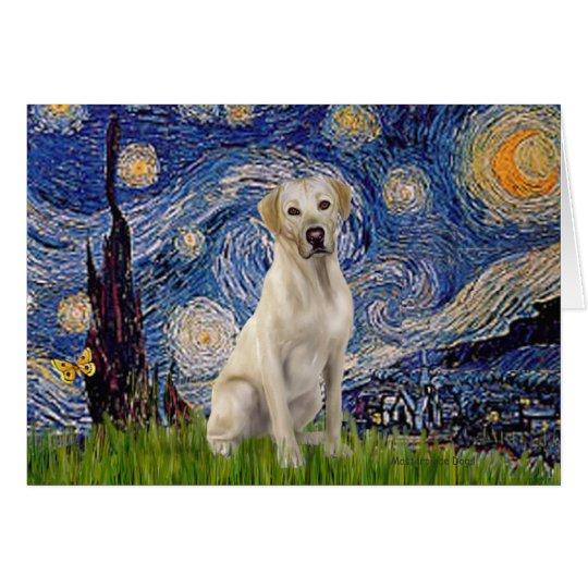 Labrador (Y7) - Starry Night Card