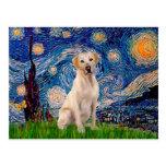 Labrador (Y7) - Starry Night Postcard