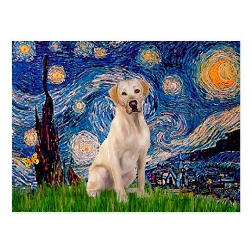 Labrador (Y7) - Starry Night Post Cards