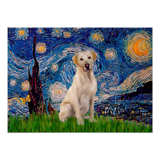Labrador (Y7) - Starry Night Poster