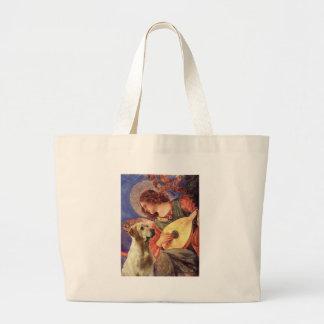 Labrador (Y8) - Mandolin Angel Large Tote Bag
