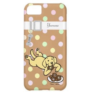 Labrador y buñuelos amarillos personalizados funda para iPhone 5C