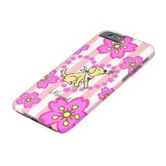 Labrador y flores de cerezo amarillos funda para iPhone 6 barely there