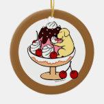 Labrador y helado amarillos del helado ornamentos para reyes magos