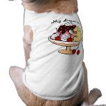 Labrador y helado amarillos del helado camiseta de perrito