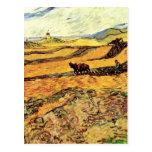 Labrador y molino, granja del campo w de Van Gogh Postal