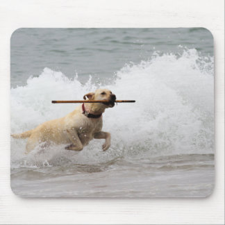 Labrador - Yellow - Go Fetch! Mouse Pad