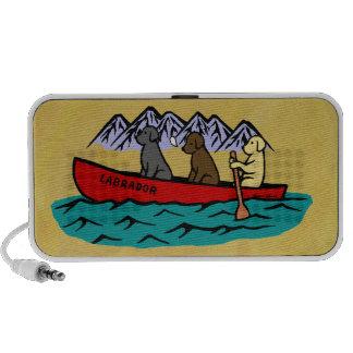 Labradores retrieveres Canoeing iPod Altavoz