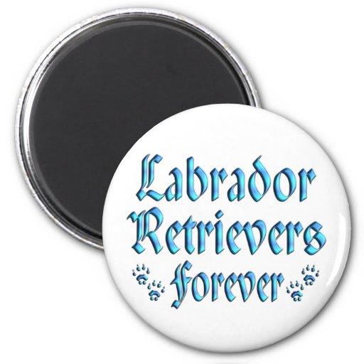 Labradores retrieveres para siempre imán redondo 5 cm