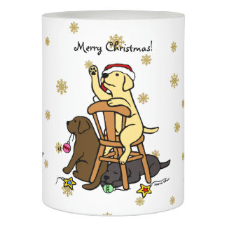 Labradors and Ornaments Christmas Candle Flameless Candle