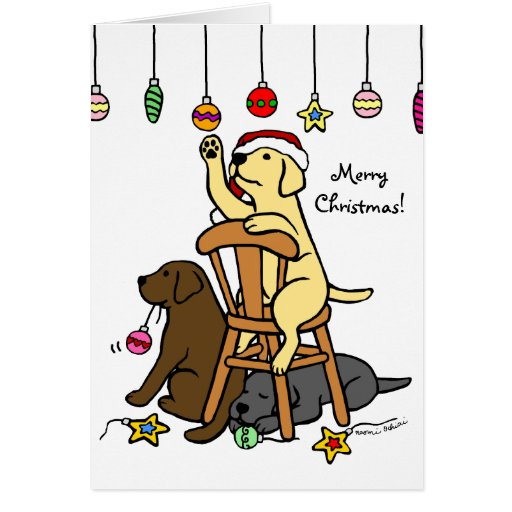Labradors and Ornaments Christmas Cards