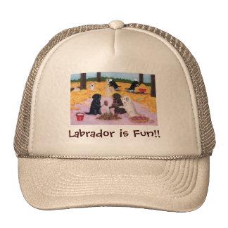 Labradors Autumn Fun Trucker Hat